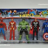 Супер герои Marvel. Набор Мстители Avengers Человек-Паук Халк Железный человек Тор Капитан Америка