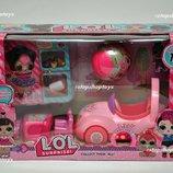 Супер набор куклы Лол LOL Surprise с машинкой и мебелью.