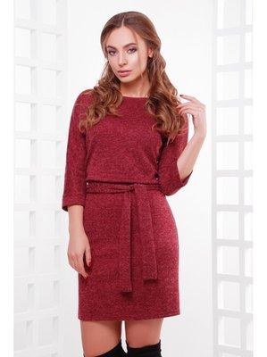 Тёплое женское платье из ангоры с поясом Белли
