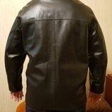 Кожаная куртка-трансформер р.L состояние новой
