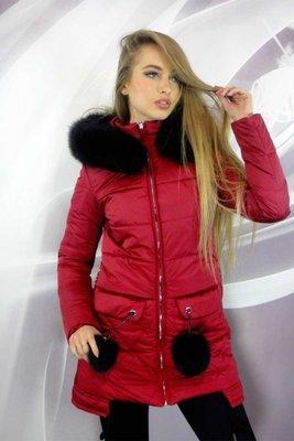 Стильная зимняя куртка 42-50р с меховыми бубонами на карманах  1800 ... 8d638fa7bd7