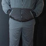 Спортивный костюм теплый Размеры 46 48-50 Ткань трехнитка с начесом плащевка