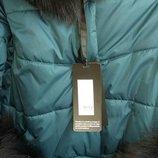 Скидка шикарная зимняя куртка с натуральным мехом 44-48р