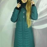 Теплая зимняя длинная куртка 50-60р батал