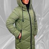 Теплая зимняя куртка 50-58р