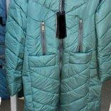 Стильная зимняя длинная куртка с натуральным мехом 46-56р