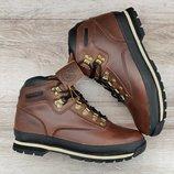 Мужские зимние ботинки Timberland Brown WaterProof. Лицензия. Натуральный мех и кожа