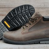 Кожаные низкие мужские ботинки Timberland Khaki . Топ качество. Все натуральное.
