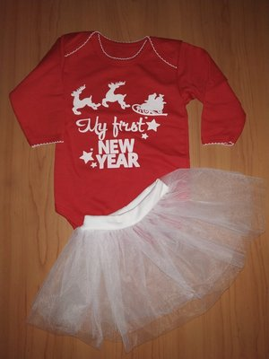 Новогодний костюм ,боди и юбка фатин