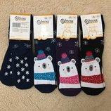 Детские новогодние махровые носки с тормозами Bross.