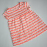 Яркая туничка платье от F&F 6-9 мес
