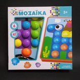 Мозаика для самых маленьких пуговицы 6 трафаретов