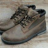 Мужские зимние ботинки Timberland. С натуральной кожи и меха . топ качество