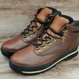 Лицензия. Мужские зимние ботинки Timberland Brown WaterProof. Кожа мех натуральный