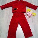 Фирменный тёплый зимний детский костюм для девочки 2-4 года. Кукла в подарок