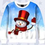 Праздничный Новогодний3D Снеговичек Большой выбор