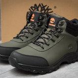 Зимние ботинки мужские кроссовки на меху Timberland Canard Oxford хаки Зима,