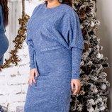 Повседневное платье ткань ангора люрекс хл размеры 48-52 скл.1 арт.47562