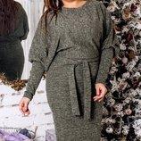 Повседневное платье ткань ангора люрекс хл размеры 48-52 скл.1 арт.47561