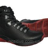 Спортивные мужские кожаные зимние ботинки Step Wey Black