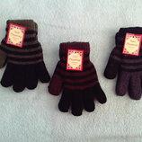 Теплые двойные перчатки рукавички варежки 4-9 лет