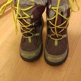 Сапоги ботинки, кожа, замша бартек размер 34