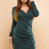 Платье повседневное на запах ткань ангора-софт скл.1 арт.47552