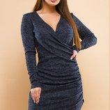 Платье повседневное на запах ткань ангора-софт скл.1 арт.47550