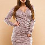 Платье повседневное на запах ткань ангора-софт скл.1 арт.47549