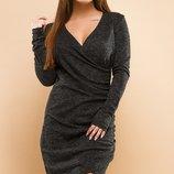 Платье повседневное на запах ткань ангора-софт скл.1 арт.47548