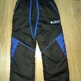 Зимние теплые штаны на флисе 92-размер