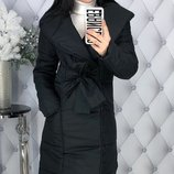 Теплая зимняя куртка пальто пуховик плотная плащевка канада на синтепоне скл.1 арт.47535