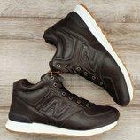 Мужские коричневые зимние ботинки New Balance 574