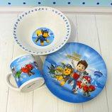 Детский Набор Посуди 3 предмета. Керамика. 11 видов