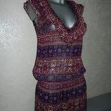 10/38/S New Look фиолетовая пляжная туника платье парео