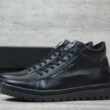Мужские зимние ботинки Рр ч/бот