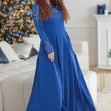 Платье Ткань Костюмная,дорогой Гепюр Длина Изделия 152,ДЛИНА Рукава По Внутреннему Шву 45.ЗАСТЕГИВ