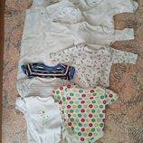 Огромный пакет одежды бодики Carters, человечки, теплый костюм, футболки