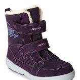 Зимние кожаные непромокаемые ботинки Geox подростковые