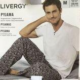 Красивая мужская пижама домашний костюм Livergy Германия, футболка штаны