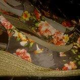 кольорові плетені босоніжки р41 Andiamo всередині шкіра