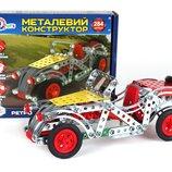 Конструктор металлический Ретро автомобиль 284дет Технок 4821