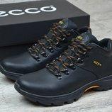 Новинка. Топ качество. Зима. Мужские кожаные зимние ботинки Ecco 130 чер
