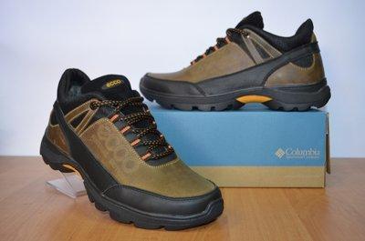 Кожаные зимние ботинки на молнии.кроссовки Ecco.