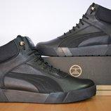 Кожаные молодежные кроссовки Puma.