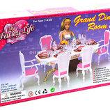 Кукольная мебель Gloria Глория 2312 Столовая на 6 персон