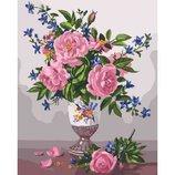 Картина по номерам. Букеты Изысканность роз KHO3023