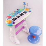 Детское пианино Joy Toy 7235 Музыкант с микрофоном. 2 цвета