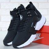 Зимние женские кроссовки ботинки Nike Huarache X Acronym City Winter Black White