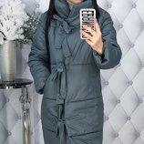 Теплая зимняя куртка пальто пуховик плотная плащевка канада на синтепоне скл.1 арт.47699